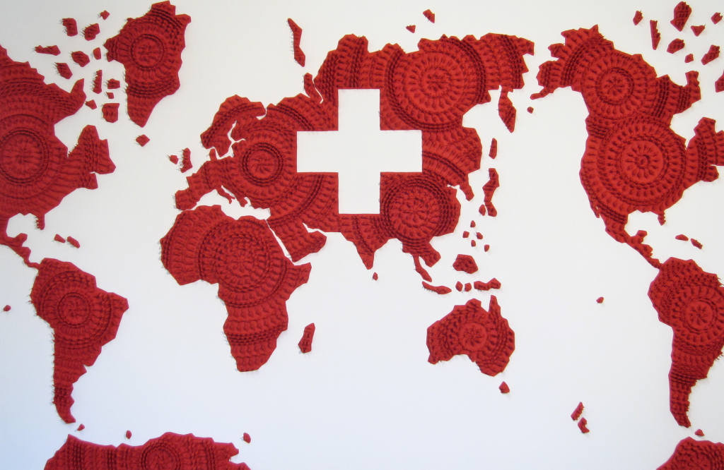 World map, Switzerland